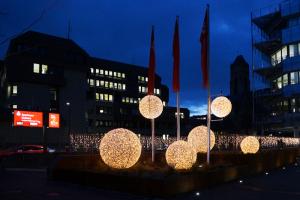 Weihnachtsbeleuchtung der Sparkasse Koblenz