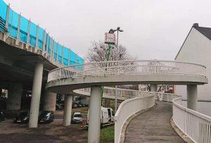 Nicht nur an der Rheinbrücke werden die Straßen nun energieeffizient beleuchtet