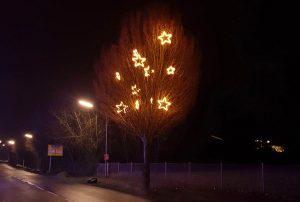 Weihnachtsbeleuchtung in Mogendorf