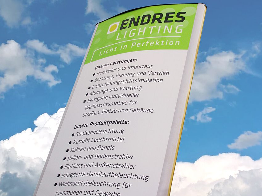 ENDRES Lighting Schild