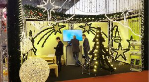 Der fertige Messestand von ENDRES Lighting