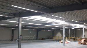 Die neue Halle der Firma KWL für die Pulverbeschichtung